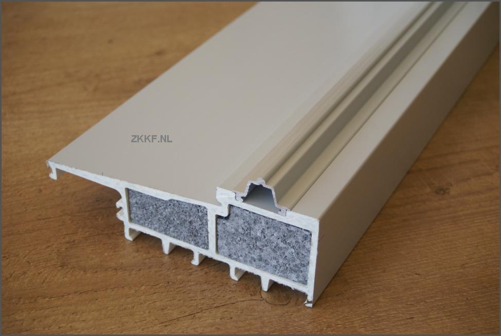 Aluminium schuifpui isoleren