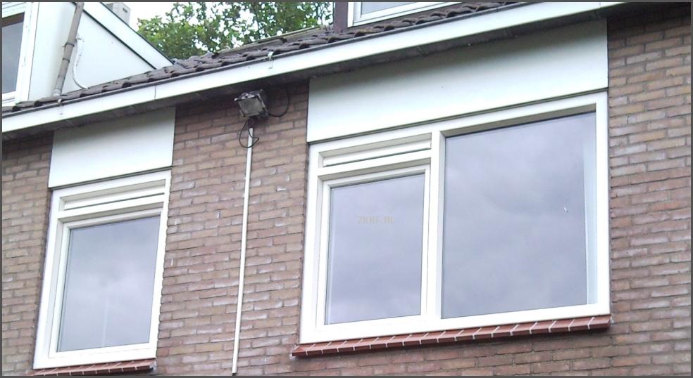 Foto van ventilatie roosters die op een kalf is geplaatst. In sommige ...